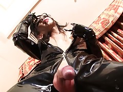 Tgirl Kanato is a woman who enjoys fetish things like wearin...