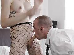 Chad drives his cock into Casey`s ass working her hot hole w...