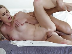 They fuck in a variety of positions before they both cum har...