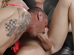 They keep sucking each other`s dicks until it is time to mov...