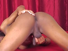 Crona Valentine is a sexy and kinky Grooby girl with a penchant for cosplay! This hot tgirl has a sexy slim body, natural breasts, a firm bubble butt and a delicious cock! Watch this horny transgirl as she shakes her sexy ass and strokes her cock!
