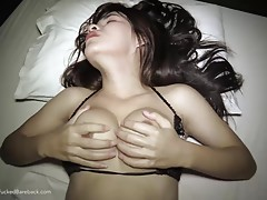 Pla`s love hole easily gapes open as his bare cock enters swiftly. You can tell excitement from Pla`s stiff cock and sparkling eyes. Pla asshole gives her so much pleasure she cums while getting fucked bareback.