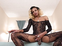 Cleopatra Blacc returns! This sexy ebony babe got a hot slim...