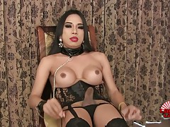 Soda is a horny tgirl with perky tits, a juicy ass and a roc...