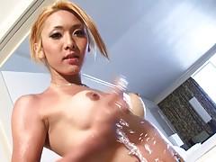 Karina looks simply enchanting in her island printed bikini....