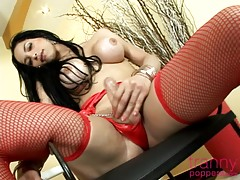 With those long locks framing her perfect breast, Isabelle looks the picture of feminine beauty in this solo video. Her facial expressions exude a sensuality so rare that you feel she`s some kind of siren, escaped from myth and put in front of a camera fo