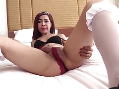 After a fine blowjob Sol lays back on the bed. She lifts her...