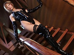 One bad ass girl is the hot tgirl Reina Himesaki as she show...