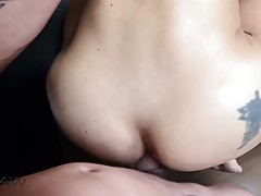 After mutual barebacking with Geane Peron she presents her f...