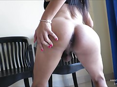 Ammy is a cute femboy with a hairy cock. Ammy likes to dress...