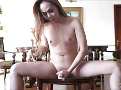 Long hair Judy puts on a private stroking show! Amy sets up ...